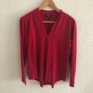 3/$20 ALL TEES Premise Red V-neck Long Sleeve M